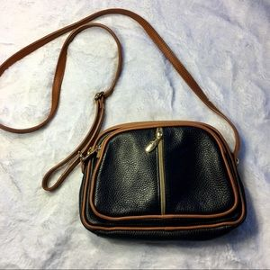 Valentina Leather Small Triple Divided Crossbody